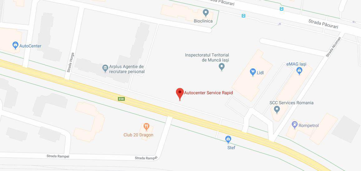 Localizare Autocenter Service Rapid
